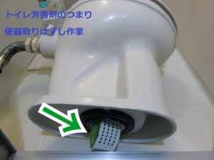 トイレ芳香剤のつまり