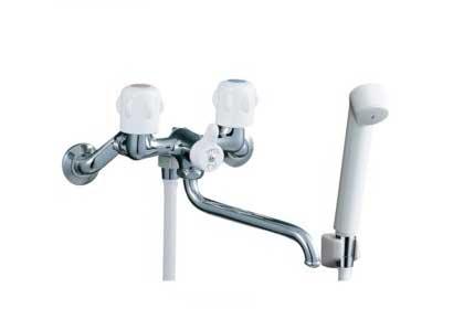 ツーハンドルシャワー水栓のハンドル