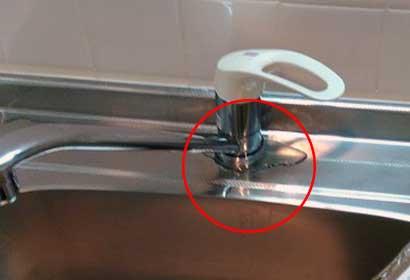 キッチン水栓蛇口の水漏れ