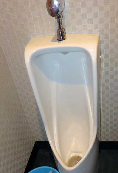 男性用小便器トイレのつまり