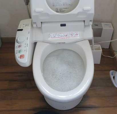 トイレで水の流れが悪い
