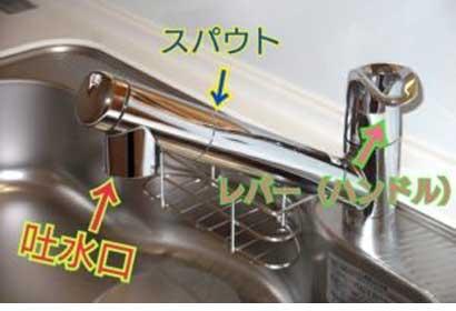 台所蛇口からの水もれ