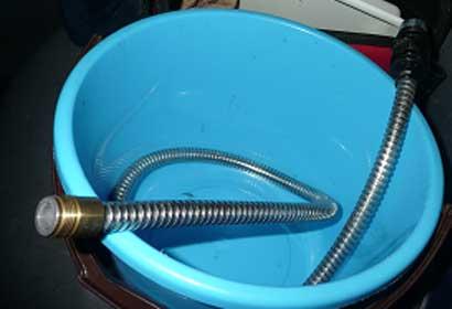 ジャバラホース水漏れ
