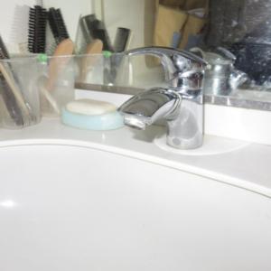 水漏れ洗面水栓交換前